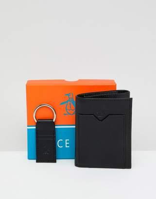 Original Penguin Wallet And Keyring Set
