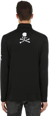 Skull High Collar Long Sleeve T-Shirt