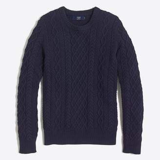 J.Crew Factory Slim fisherman cable crewneck sweater