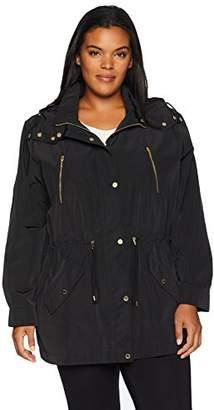 Calvin Klein Women's Plus Size Zip Detail Anorak