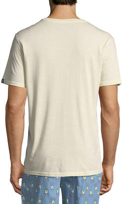Psycho Bunny Men's Classic Logo Embroidered V-Neck T-Shirt