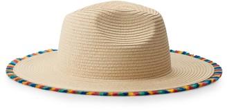 Mudd Juniors' Rainbow Tassel Panama Hat