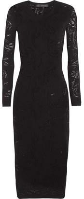 Versace - Open-knit Dress - Black