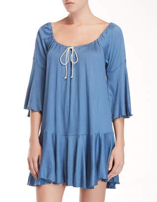 Jordan Taylor Elif For Crinkle Ruffle Hem Cover-Up Dress