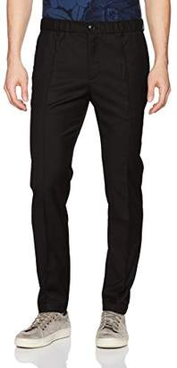 Armani Exchange A|X Men's Front Creased Wool Blend Chino Pants