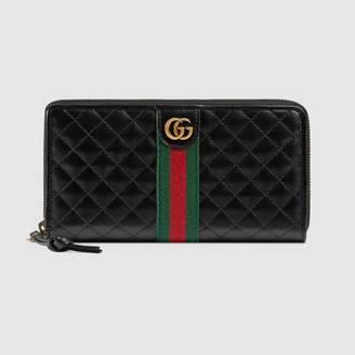 Gucci Leather zip around wallet with DoubleG
