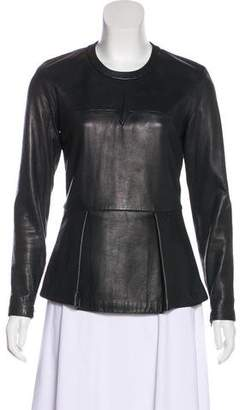 3.1 Phillip Lim Long Sleeve Leather Top