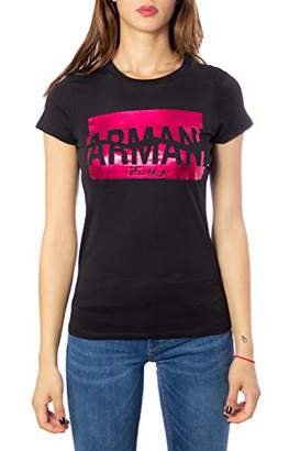 Armani Exchange A|X Women's Scoop Neck T-Shirt with Shiny Graphic