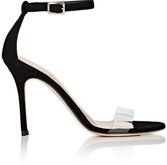 Barneys New York Women's Suede & PVC Ankle-Strap Sandals $295 thestylecure.com