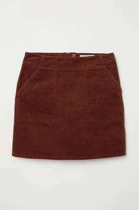 H&M Corduroy Skirt - Beige