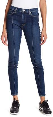 Hudson Barbara High Waisted Front Pintuck Skinny Jeans
