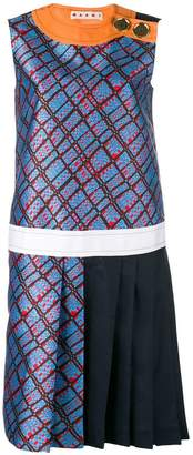 Marni patterned shift dress