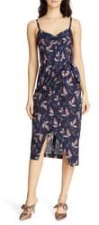 Rebecca Taylor Ivie Floral Sleeveless Cotton Midi Sundress
