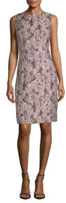 Lafayette 148 New York Verona Jacquard Silk-Blend Sheath Dress