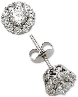 Marchesa Diamond Cluster Stud Earrings (1 ct. t.w.) in 18k White Gold, Created for Macy's