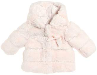 Tartine et Chocolat Reversible Faux Fur & Nylon Jacket