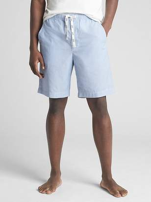"Gap 9"" Drawstring Lounge Shorts in Poplin"