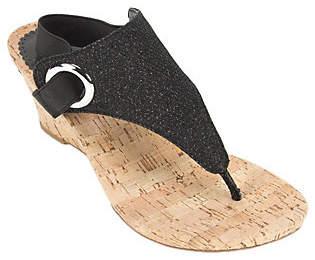 White Mountain Wedge Thong Sandals - Aida