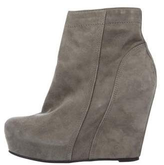 Rick Owens Suede Pointed-Toe Ankle Boots