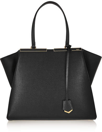 Fendi - 3jours Textured-leather Tote - Black
