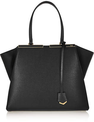 Fendi 3jours Textured-leather Tote - Black