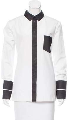 Maison Margiela Contrasted Button-Up Top w/ Tags