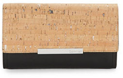 Calvin Klein Calvin Klein Cork Textured Leather Clutch