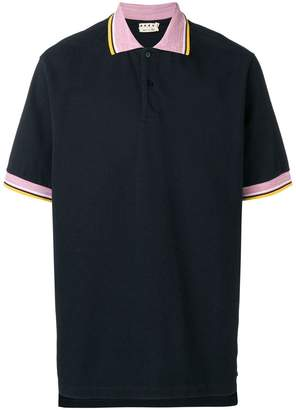 Marni striped trim polo shirt