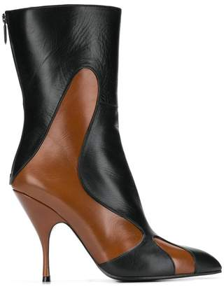 Bottega Veneta pointed toe mid-calf boots