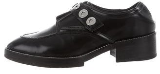 Sandro Leather Grommet-Accented Oxfords $85 thestylecure.com
