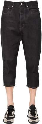 Rick Owens Cropped Cotton Denim Jeans