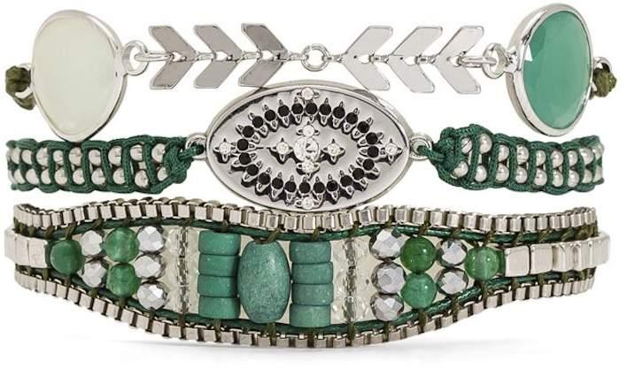 Bali - Typ Armband Manschette - grün