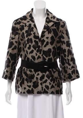 Lafayette 148 Leopard Print Wool Coat