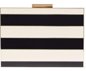Valentino Striped Acrylic Box Clutch