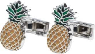 yd. SILVER PINEAPPLE CUFFLINKS