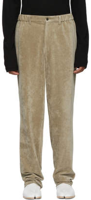 Issey Miyake Beige Velour Trousers