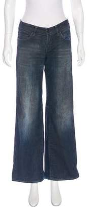 Stella McCartney Coated Mid-Rise Jeans