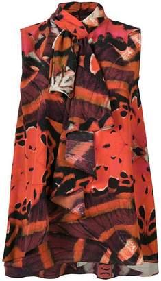 Alexander McQueen Butterfly ruffle blouse