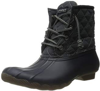Sperry Women's Saltwater Quilted Nylon NY GY Rain Boot