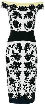 Alexander McQueen floral print fitted dress