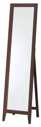 Pilaster Designs Peta Walnut Solid Wood Frame Contemporary Rectangle Floor Standing Mirror 15 x 59