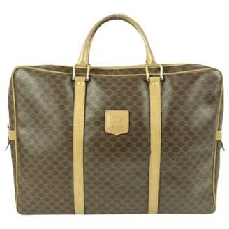 Celine Vintage Brown Leather Travel Bag