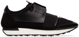 Balenciaga black Race Runner leather sneakers