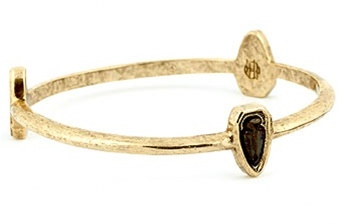House of Harlow 1960 Triple Arrowhead Station Bangle in Gold