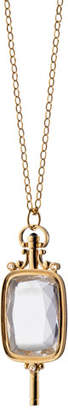 Monica Rich Kosann Pocket Watch Key Rock Crystal Necklace