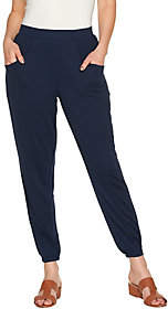 Halston H by Regular Ankle Length Jogger Pantsw/ Seam Detail