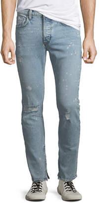 Hudson Men's Vaughn Distressed Skinny Ankle-Zip Jeans, Echo Park