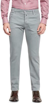 Kiton Twill Five-Pocket Pants, Cement