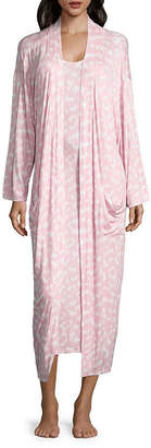 Asstd National Brand Jersey Sleeveless Scoop Neck Floral Nightgown