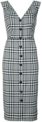 Veronica Beard checked button dress